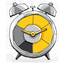 Icon: Organisation und Zeitmanagement